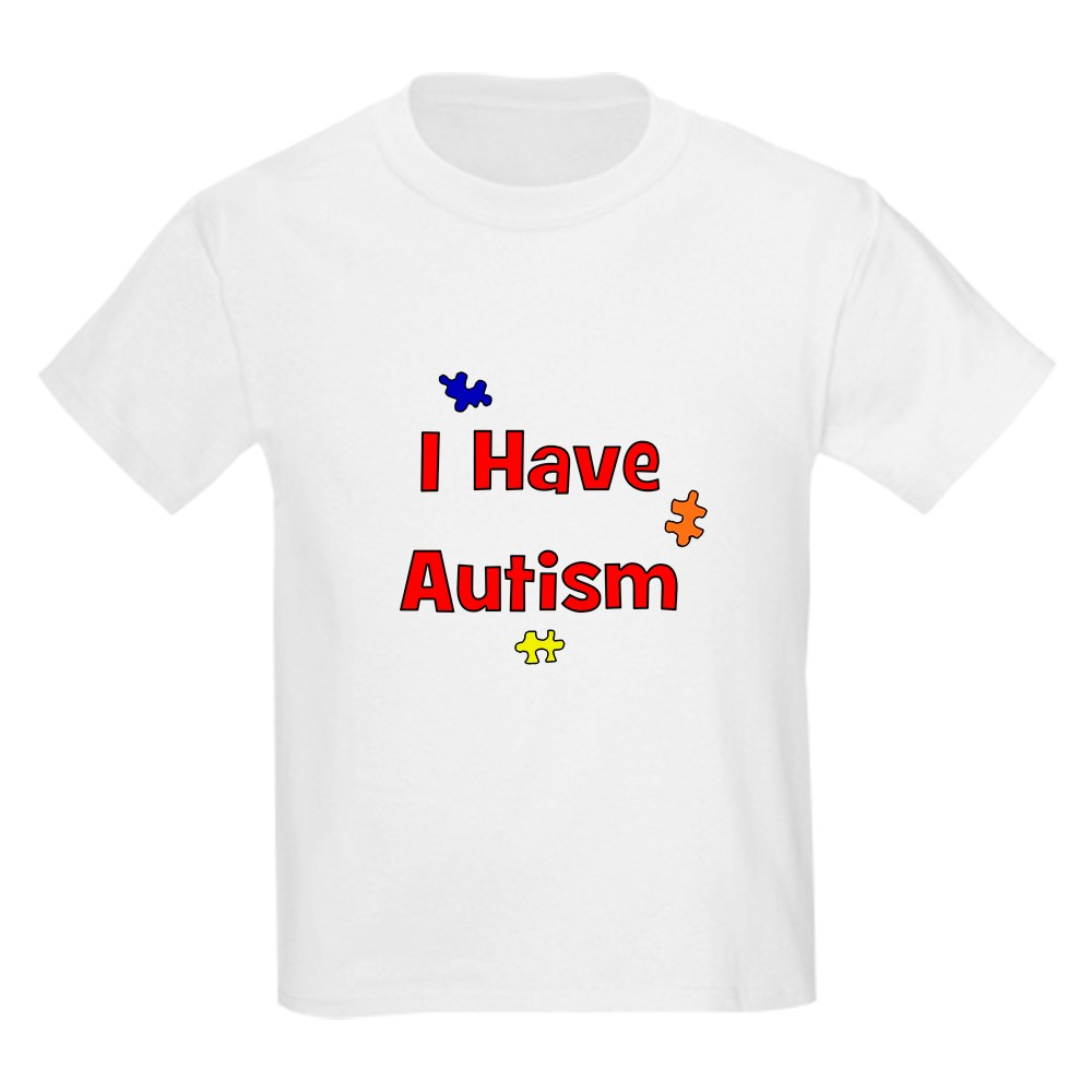 Red 67854569 CafePress I Have Autism Kids T Shirt Kids Light T-Shirt