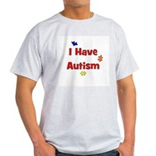 I Have Autism (red) Ash Grey T-Shirt