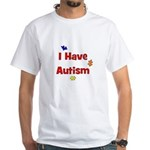 I Have Autism (red) White T-Shirt