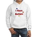 I Have Autism (red) Hooded Sweatshirt