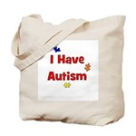 I Have Autism (red) Tote Bag