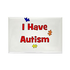 I Have Autism (red) Rectangle Magnet