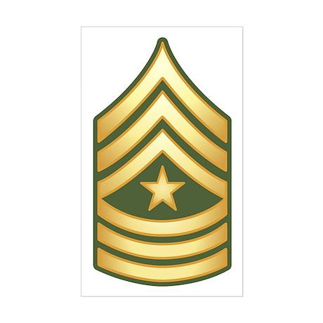 Sergeant Major Sticker (Rectangle)