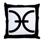 Pisces Symbol Throw Pillow