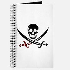 Funny Skull and crossbones Journal
