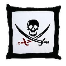 Cute Jolly roger Throw Pillow