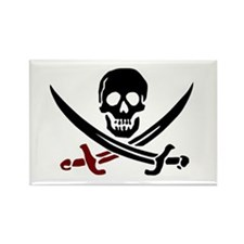 Cute Skull and crossbones Rectangle Magnet