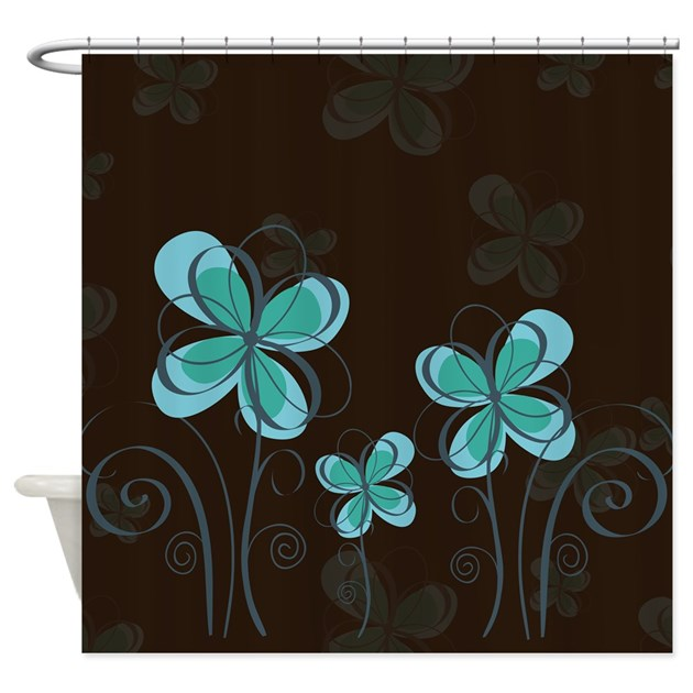 Whimsical Flowers Shower Curtain By Alondrascreations