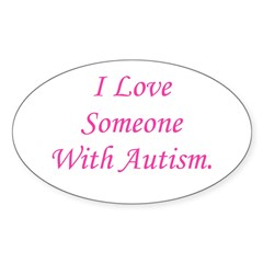 I Love Someone With Autism (p Oval Sticker