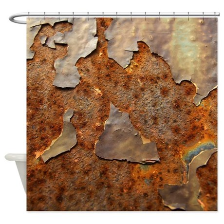 Paint And Rust Shower Curtain