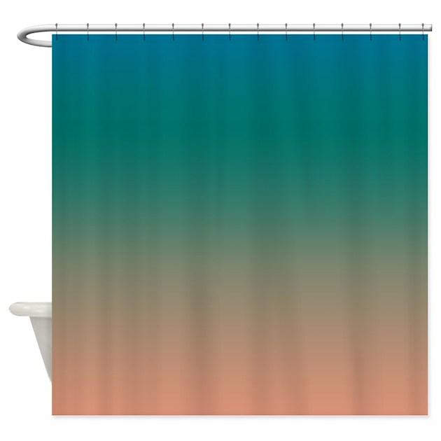 teal beach shower curtain by kinnikinnicktoo