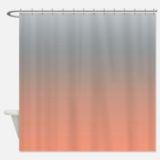 Peach Gray Shower Curtains   Peach Gray Fabric Shower Curtain Liner
