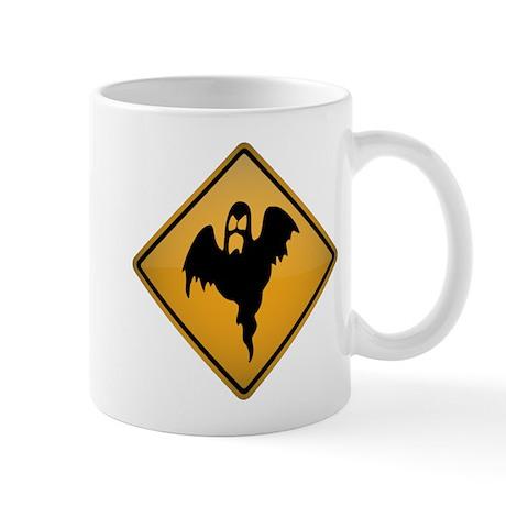 Ghost Warning Sign Mug