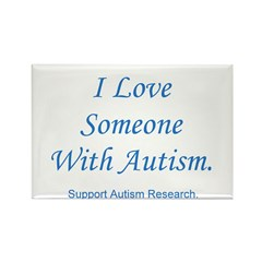 I Love Someone with Autism (b Rectangle Magnet