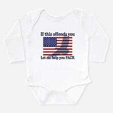 Flag Eagle Patriot Long Sleeve Infant Bodysuit