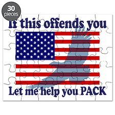Flag Eagle Patriot Puzzle