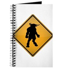 Minotaur Warning Sign Journal