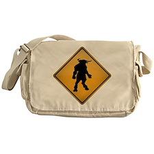 Minotaur Warning Sign Messenger Bag