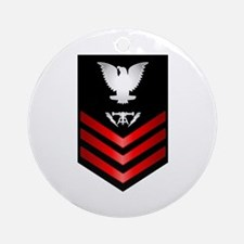 Navy Fire Controlman First Class Ornament (Round)
