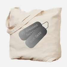 My Grandson survived boot camp Tote Bag