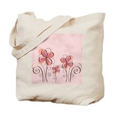 Whimsical Flowers Tote Bag
