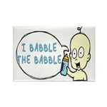 I Babble The Babble Rectangle Magnet