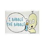 I Babble The Babble Rectangle Magnet (10 pack)