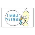 I Babble The Babble Rectangle Sticker