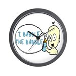 I Babble The Babble Wall Clock
