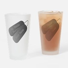 My Uncle survived boot camp Drinking Glass