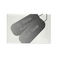 My Uncle survived boot camp Rectangle Magnet