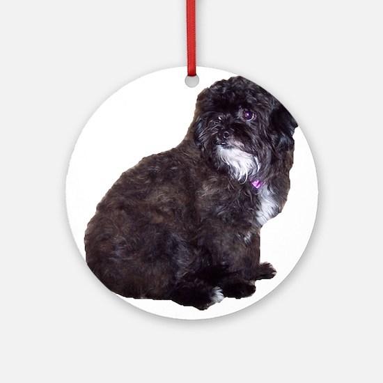 Shih Poo Love Ornament (Round)