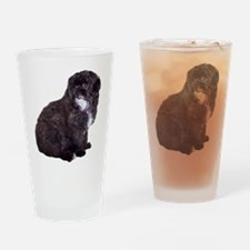 Shih Poo Love Drinking Glass