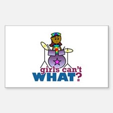 Girl Drummer Decal