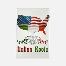 American Italian Roots Rectangle Magnet