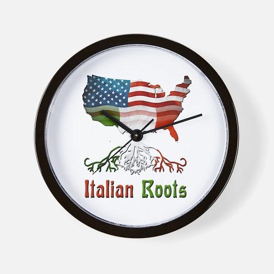 American Italian Roots Wall Clock