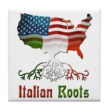American Italian Roots Tile Coaster