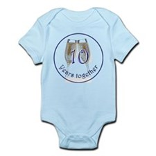 Celebrate 10 Years Together! Infant Bodysuit