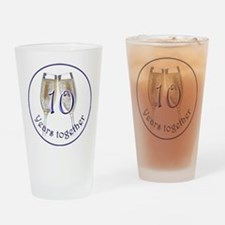 Celebrate 10 Years Together! Drinking Glass