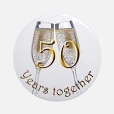 50 Years Together Ornament (Round)