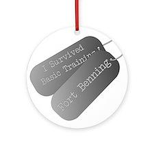 I survived basic training fort Benning Ornament (R