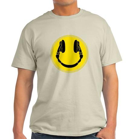 DJ Smiley Headphone Platter Light T-Shirt