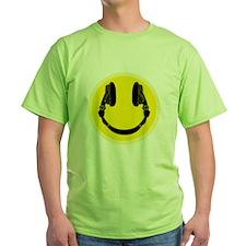 DJ Smiley Headphone Platter T-Shirt
