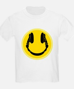 DJ Smiley Headphone Platter T-Shirt