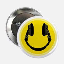 "DJ Smiley Headphone Platter 2.25"" Button"
