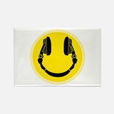 DJ Smiley Headphone Platter Rectangle Magnet
