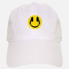 DJ Smiley Headphone Platter Baseball Baseball Cap