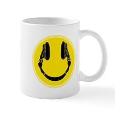 DJ Smiley Headphone Platter Mug
