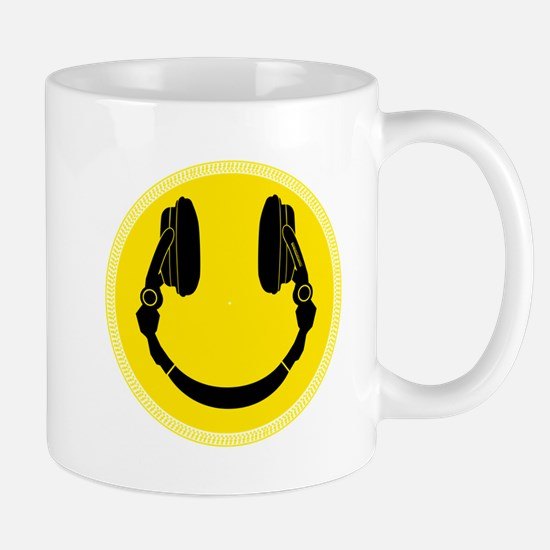 DJ Smiley Headphone Platter Mug