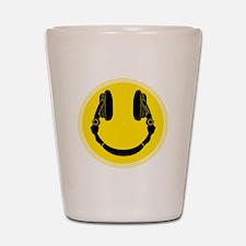 DJ Smiley Headphone Platter Shot Glass